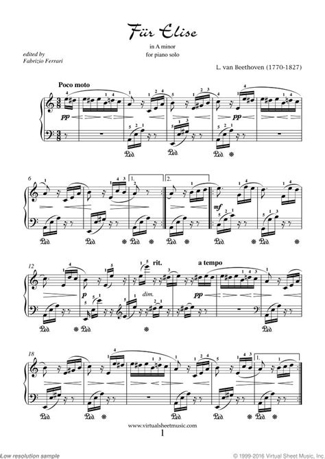 Funky Fur Elise Chords Sketch - Song Chords Images - apa-montreal.info