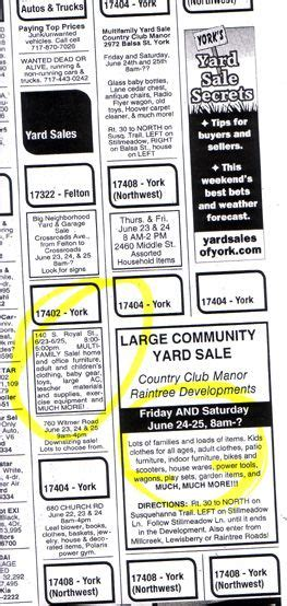 Dans projects how to write a memorable yard sale ad jpg 263x554
