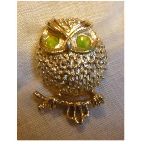 brooch owl rhinestone vintage jpg 1020x1020